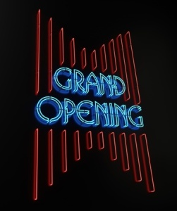 Grand opening sign