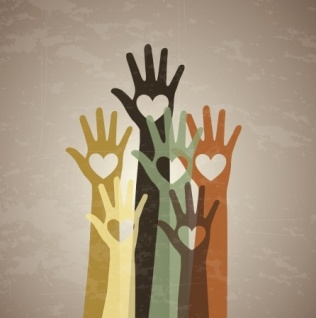 hands up to volunteer