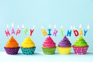35816867 - happy birthday cupcakes