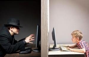 46643413 - dangerous online friendship concept