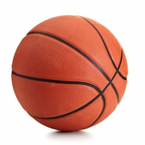 13608397 - basketball ball over white background
